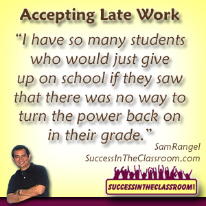 tips for new teachers - accepting late work