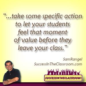 tips for new teachers - moment of value