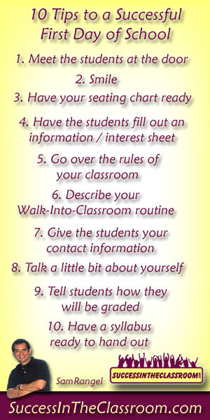 Tips for a Successful First Day of School