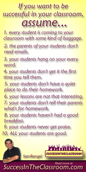 10 Teacher Assumptions for a Successful Classroom