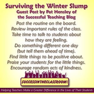 Surviving The Winter Slump – Guest Post by Pat Hensley AKA Loony Hiker