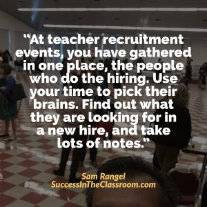 The Most Important Question to ask at a Teacher Recruitment Event